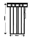 Single Slide Gate (lookthrough)